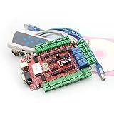 4軸 USB CNC ブレークアウトボード インターフェースボード インターフェース基板 ハンドルコントロール付き USB CNC breakout board interface board