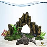 Decorative Aquarium Cave (1pc) --- Low Maintenance Artificial Stone Cave Decor for Fish Tanks and...
