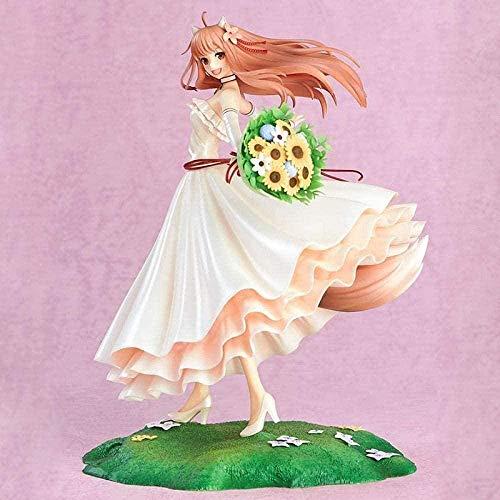 Mdcgok Anime Personajes Modelo Especia y Lobo Boda Holo Vestido Figura de acción 10 ° Aniversario PVC Colección de Figuras Muñeca 20cm
