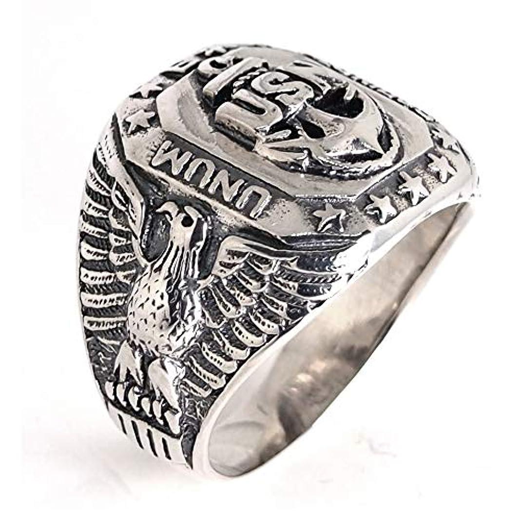 シュガーペストリー実用的シルバーリング メンズ 指輪 925 カレッジリング アーミー ミリタリー シルバ ーアクセサリー silver (23)
