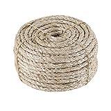 IZSUZEE Cuerda de Sisal, Cuerda de 7mm (30m), Adecuada para Rascador para Gatos, Juguete Gato y Arbol para Gatos. También Apto para Jardin, Jardineria y DIY.