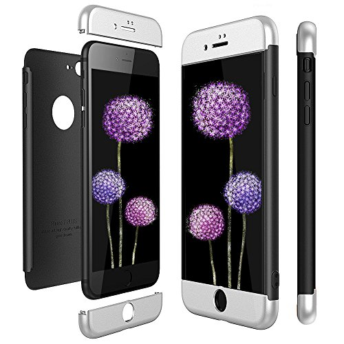 Mosoris Cover per iPhone 7 Plus Custodia, 360 Gradi Protettiva Rigida Ibrida Matte Case Ultra-Thin And Solid 3 in 1 Duro PC AntiGraffio Copertura per iPhone 8 Plus 5.5'