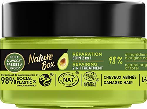 Nature Box - Soin Masque 2 en 1 Réparation Avocat - Cheveux abîmés - 200 ml