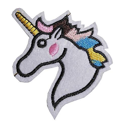 Unicorn Iron On/Sew on patch ricamato applique cuore ricamo motivo animali unico trasferimento
