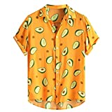 Camisa Estampado Aguacate Hombre, Dragon868 Vintage Camisa Hawaiana, Camisa...