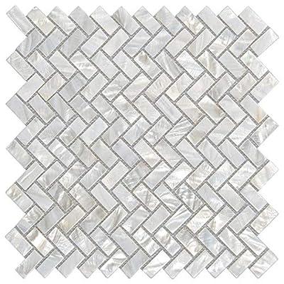 LONGKING Mother of Pearl Tiles, Decorative Tiles (C-01, 1 Tile)