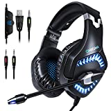 Gaming Headset,E-BLUE Xbox One PS4 Microsoft Gaming Headphone,Playstation Headset with Mic and Volume Control Stereo for Boys Girls (No adapter included)