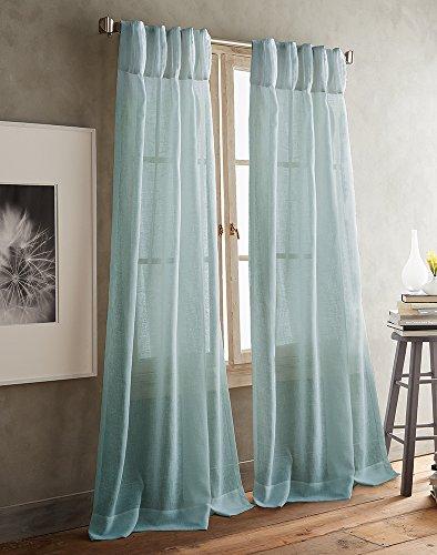 DKNY Paradox Pencil Pleat Sheer Window Curtain Panel Pair