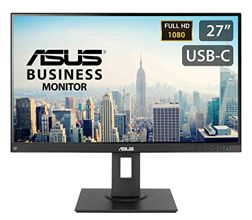 """ASUS BE279CLB 27"""" Business Monitor, FHD, 1920 x 1080, IPS, DP, HDMI, USB-C with Power Delivery 80W, Mini-PC Mount Kit, Flicker Free, Filtro Luce Blu, Ergonomic Stand"""
