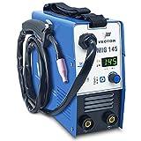 Vector Welding MIG MAG - Soldador de gas protector, dispositivo de soldadura con electrodos de 145 amperios, 140 amperios y modo de soldadura de 140 amperios, incluye soplete MIG MAG
