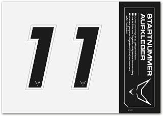 Stickers num/éro de concours #RACEFOXX lot de 5