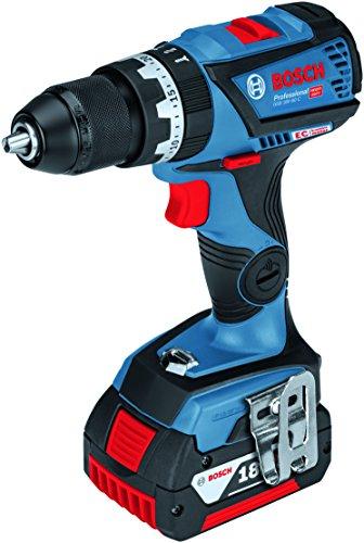 Bosch Professional 18V Akku Schlagbohrschrauber GSB 18V-60 C 2x 5,0 Ah Akku Schnellladegerät Bluetooth-Modul L-BOXX (18 Volt Max. Drehmoment: max. Bohrfutter: 13 mm max. Schrauben-Ø: 10 mm)