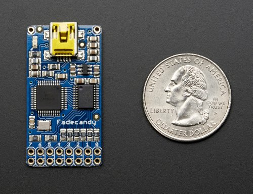 Adafruit FadeCandy - Dithering USB-Controlled Driver for RGB NeoPixels [ADA1689]