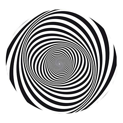 laiyin Schwarzweiss-Teppich, 3D-Vision-Illusionsteppich, robuste rutschfeste Bodenmatte,...