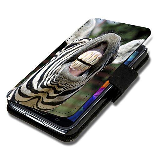 Book Style Flip Handy Tasche Hülle Schutz Hülle Schale Motiv Foto Etui für ZTE Blade L3 - Flip A38 Design6