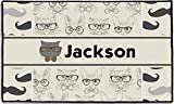 """RNK Shops Hipster Cats & Mustache Door Mat - 60""""x36"""" (Personalized)"""