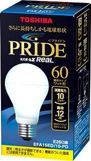 TOSHIBA ネオボールZリアルPRIDE A形 60Wタイプ 昼光色 EFA15ED/10-PD 口金直径26mm