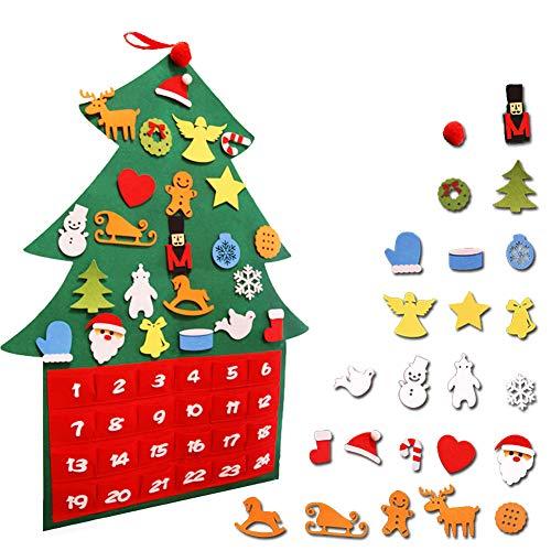 Rayuda Beauty Calendarios de Adviento 2019, Decoraciones de Navidad de árbol de Navidad, para niños