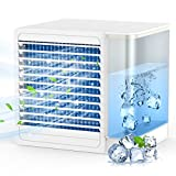 Tesoky Portable Air Conditioner, Personal Air Cooler for Room, Mini Air Conditioner Fan Evaporative Air Cooler, Fan, Air Conditioner, Purifier, Night Light 4-in-1,for Home, Office and Room