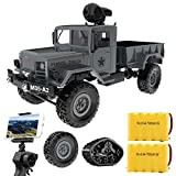 BHTKJ Remote Control Cars 1:16 Military Truck 4WD 2.4Ghz with Wi-Fi HD Camera