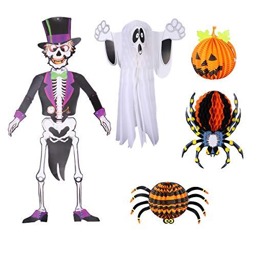 Balacoo Haustier Hund Katze Kostüm-5pcs Halloween Laterne Kürbis Spinne Laterne Scary Hanging Decoration für DIY