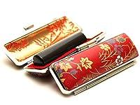 「彩華 黒印鑑15.0mm×60mm赤ローケツケース(D-4)付き」 横彫り 吉相体