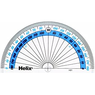 Helix H01040 10cm 180 Degree Protractor:Marocannonce