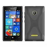 Cadorabo Hülle für Nokia Lumia 435 in Oxid SCHWARZ –