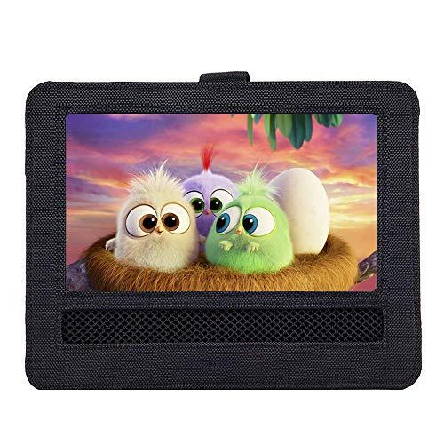 WONNIE Auto Kopfstützenhalterung für Drehgelenk & Flip Tragbarer DVD Player KFZ Kopfstütze Halterung Gehäuse (Black) (10.5 inch)