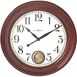 Howard Miller Griffith Gallery Wall Clock 625-314 – Oversized Windsor Cherry with Quartz Movement