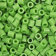 Vaessen Creative Perlas Fusibles, Verde Claro, Set de 1100 Piezas DIY para Niños, Creación de Joyas, Decoraciones Hechas en Casa y Otras Ideas de Manualidades, 5mm