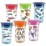 Nuby Tritan No Spill 360 Degree Printed Wonder Cup, Prints May Vary, 1pk