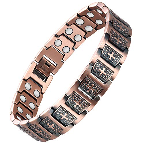 Wincone Cross Copper Bracelet for Men Strong Magnetic Bracelets Pain...