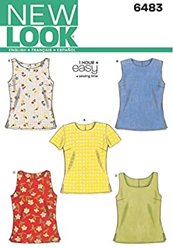 New Look Sewing Pattern 6483 Misses Tops Size A  6-8-10-12-14-16