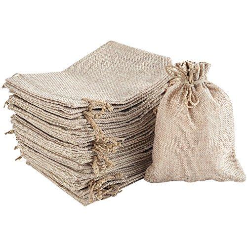 Irich 30 Stück Baumwolle Säckchen mit Kordelzug, 18x13CM Kleine Stoffbeutel für Kindergeburtstag Hochzeit Party DIY Handwerk Mitbringsel