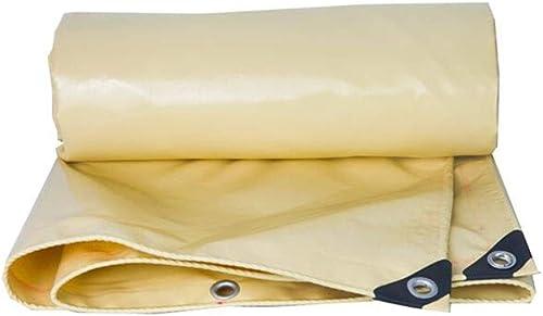 CJC Voiles d'ombrage à Toute épreuve 580gsm Imperméable Couverture De La Feuille Baches Couverture De Camping Abri Bache Filet D'ombre (Couleur   Beige, Taille   5x10m)