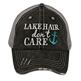 Lake Hair Dont Care Womens Trucker Hat Cap by Katydid,Teal,One Size