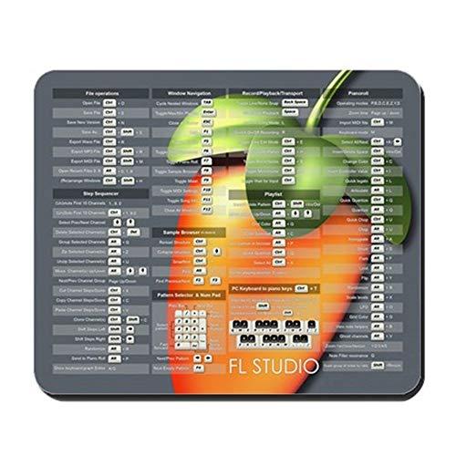 mfsore 25 cm CafePress - FL Studio-Tastaturkürzel mit Obst - Rutschfestes Gummi-Mousepad, Gaming-Mauspad, 20 x