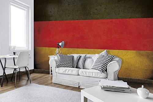 FORWALL Fototapete Vlies - Tapete Moderne Wanddeko Deutschland Flagge V4 (254cm. x 184cm.) AMF10678V4 Wandtapete Design Tapete Wohnzimmer Schlafzimmer