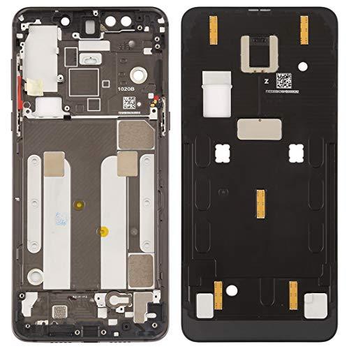 Dmtrab Marco Medio del Bisel de la Placa del Marco Placa Media del Bisel con Teclas Laterales for Xiaomi Mi Mix 3 (Negro) Piezas de Repuesto (Color : Black)