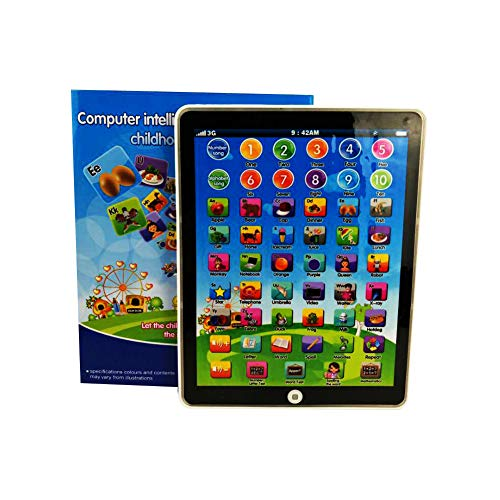 tablet giocattolo Beesclover bambini mini Imitative iPad giocattolo intelligente precoce educativo imparare giocando tablet Toys Christmas Birthday Gift for Girls Boys Baby Learning Machine Vertical Screen Color Random