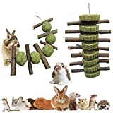 SDPYY Chew Sticks,2PCS Conejos Masticar Pastel de Hierba Natural, Juguetes para...