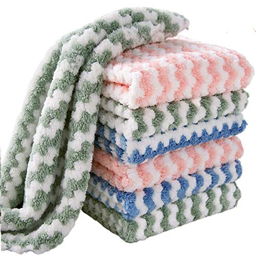 EigPluy 12 Piezas Paño de Microfibra para Limpieza,Toallas de Cocina Superabsorbente,25x25cm,Colores Mezclados