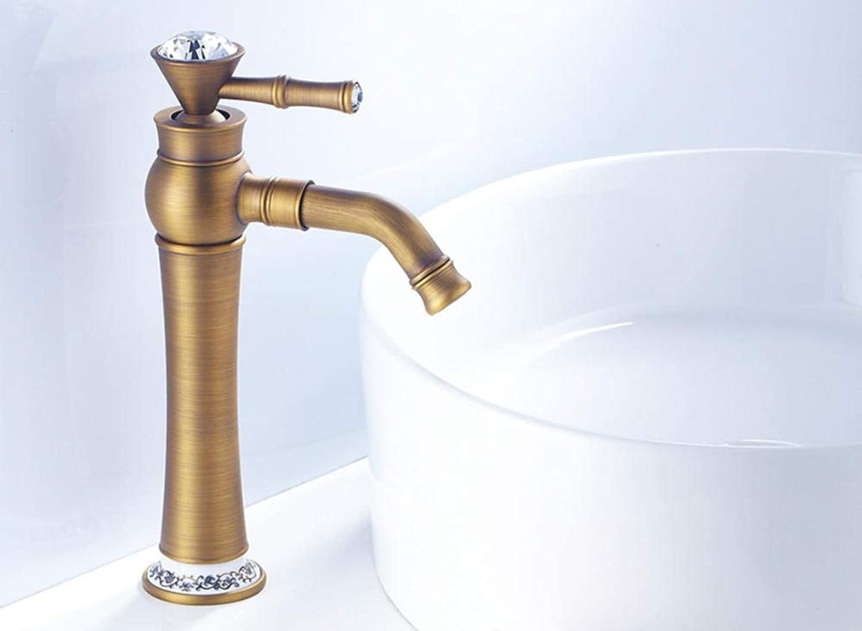 CZOOR Neue Becken Wasserhahn Messing Bad Balkon Vintage Style Einhand Hot & Cold Water Sink Wasserhahn Badzubehr
