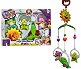 SQUICKLE 5 Pcs Lovely Colourful Musical Hanging Rattle Toys with Hanging Cartoons