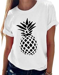 Generic Brands gShopVV Womens Fashion Pineapple T-Shirt White Large