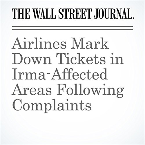Airlines Mark Down Tickets in Irma-Affected Areas Following Complaints copertina