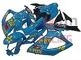 LoveMoto Carenados para GSX-R600 GSX-R750 K6 2006 2007 06 07 GSXR 600 750 Kit de carenado de Material plástico ABS Moldeado por inyección para Moto Azul