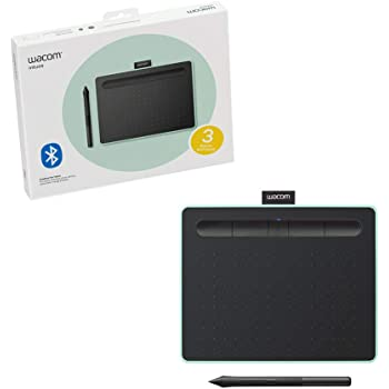 """Wacom CTL4100WLE0 Intuos Wireless Graphics Drawing Tablet with Software Included, 7.9"""" X 6.3"""", Pistachio"""