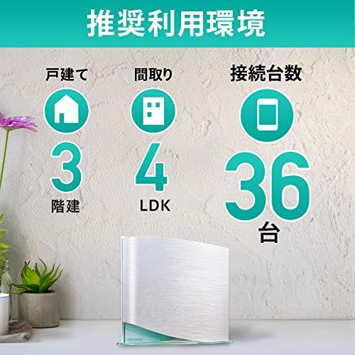 I-ODATAWi-Fi5無線LANルータートライバンドac42001733+1733+800MbpsIPv63階建/4LDK/返金保証日本メーカー【iPhone/android/chromebookメーカー動作確認済み】WN-TX4266GR/E
